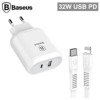Baseus Hızlı Şarj Aleti Type-C Pd 32W USB Portlu Lightning Kablo