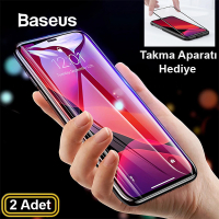 Baseus İPhone 11-6.1 İPhone XR 3D full Tempered Cam Ekran Koruyucu 2 adet