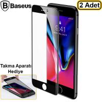 Baseus İPhone 7- 8 0.23mm Full Kırılmaz Cam Ekran Koruyucu 2 Adet Set
