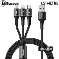 Baseus halo data 3in1 1.2m3 Başlık Usb Kablo Micro-Type-C İPhone