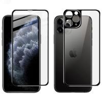 İPhone 11 Pro Metal Çerçeve Ön Arka 3D Full Tempered Cam Koruyucu