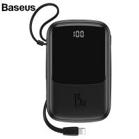 Baseus Q pow 3A Dijital Gösterge 10000mAh Power Bank +İPhone Şarj Başlık