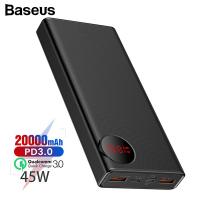 Baseus Mulight Power bank 45W Hızlı Şarj (PD3.0+QC3.0) 20000mAh dijital Göstergeli