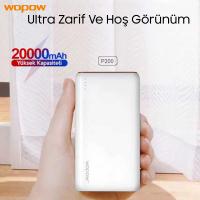 Wopow P200,20000 Mah 2 Usb Çıkışlı Power Bank Harici Yedekleme Pil Şarj