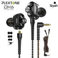 Plextone DX6 3.5mm Jack HIFI Stereo bas MMCX kablo kulakiçi Kulaklık