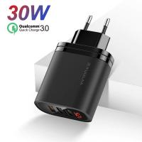 KUULAA 3 Usb QC3.0+PD 30W Hızlı Şarj Dijital Ekran Şarj Başlık