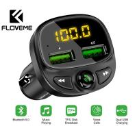 FLOVEME 3,4A Çift USB Araç Hızlı Şarj Bluetooth FM Mp3Çalar
