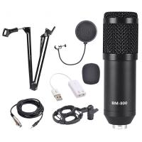 ALLY BM800 Stüdyo Kayıt Youtuber Mikrofonu Seti + Stand + Pop Filtre
