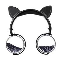 ALLY Kedi Kulak Simli Kablolu Mikrofonlu Kulaküstü Kulaklık 3.5mm jack