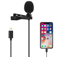ALLY iPhone Lightning Profesyonel Youtuber Yaka Mikrofonu-JH041 Lavalier Mic