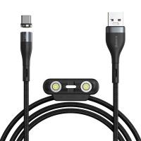 Baseus Safe Fast 5A Hızlı Şarj Mıknatıslı Usb Şarj Kablosu 3 Başlık(iPhone+Type-C+Micro)1m