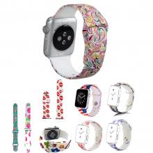 Ally Apple Watch İçin 38mm Yüksek- Kalite Desenli Silikon Kordon