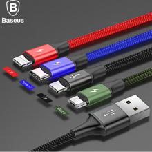 Baseus 4in1 İphone Lightning 2 Usb Type-C Micro Hızlı Şarj Usb Kablo