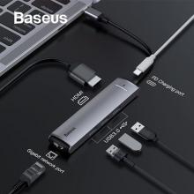 Baseus Usb Type C 6in1 HDMI 3x USB 3.0 RJ45 Çoğaltıcı Adeptör