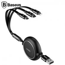 Baseus Golden Loop Kızaklı 3İN1 Usb Type c-İPhone Ve Mikro Usb kablo Şarj