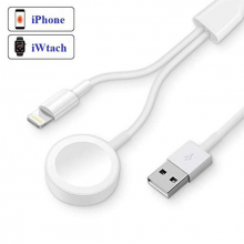 Ally 2in1 İwatch 1-2-3-4 Wireless Şarj- İPhone Usb Şarj Kablosu