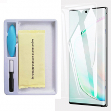 Ally Sm Galaxy Note 10 Full Uv Liquid+uv Işık 3d Kırılmaz Cam Ekran Koruyucu