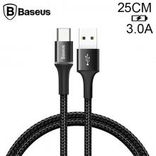 Baseus halo USB Type-C 3A Hızlı Şarj 0.25CM Kısa Power Bank için Şarj Kablosu
