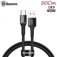 Baseus halo USB Type-C 40W Flash Şarj 0.50CM Kısa USB Şarj Kablosu
