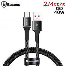 Baseus halo USB Type-C 40W Flash Şarj 2Metre USB Şarj Kablosu