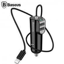 Baseus Energy Station  Dual Usb Çıkışlı+Araç Şarj Cihazı+İPhone Kablo