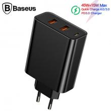 Baseus PPS three output 4.0 3.0 Hızlı Şarj(C+U+U)60W Şarj Aleti Başlık