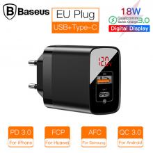 Baseus Mirror Lake PPS Dijital gösterge 3.0 18W PD Hızlı Şarj Aleti