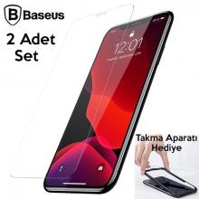 Baseus İPhone 11 Pro- X-XS 0.3mm Ful Tempered Cam Ekran Koruyucu 2 Adet Set