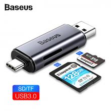 BASEUS Lentil Cabin USB3.0-Type-C+SD-TF Card Reader-Kart Okuyucu