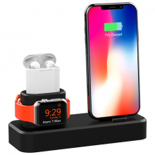 Ally 3in1 Charging Base İPhone+ İwatch+ İPods Silikon Şarj Standı
