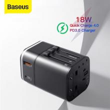 BASEUS 2in1 Universal AU-UK-US-EU-CN 18W PPS Hızlı Şarj Adaptörü