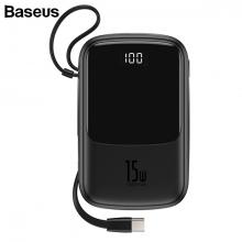 Baseus Q pow 3A Dijital Gösterge 10000mAh Power Bank +Type C Başlık