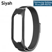 Samsung fit-e-SM-R375 Metal Milano Loop Kayış Kordon