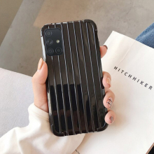 Ally Samsung Galaxy A71 Trunk Lines ince Soft Silikon Kılıf -> SİYAH