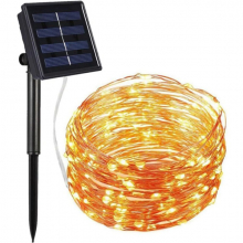 ALLY Solar Güneş Enerjili Dış Bahçe Aydınlatma Su Geçirmez Led 10M Çok Renkli