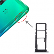 Huawei P40 Lite E -Enjoy 10 Sim Hafıza Kart Kapağı Tutucu