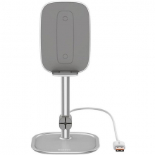 Baseus Literary 15W Kablosuz Şarj Masaüstü Telefon Tutucu Stand Wireless Şarj