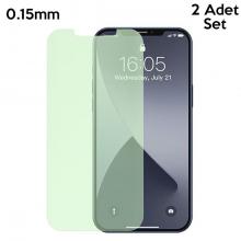 BASEUS  İPhone 12- 12 Pro 6.1 0.15mm Full Tempered Cam Ekran Koruyucu 2Set Anti-Bluelight