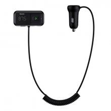 Baseus T typed S-16 FM Transmitter Bluetooth Dual Usb Araç şarj Aleti