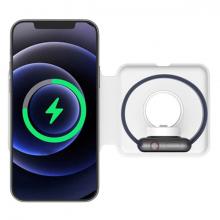 ALLY Q500 2in1 15W Magnetic MagSafe Duo Wireless Kablosuz Şarj Cihazı