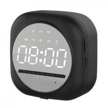 ALLY Q12 Bluetooth Hoparlör FM Radyo Dijital Masa Saati Alarm Uyandırma