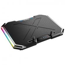 MC Q8 6 Fanlı Oyuncu Notebook Soğutucu  Stand Yükseklik Ayarlanabilir Led Işıklı
