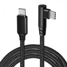 ALLY 60W USB Type-C Pd Hızlı Şarj Kablosu Oyuncu 90 Derece Başlıklı Kablo 1 Metre