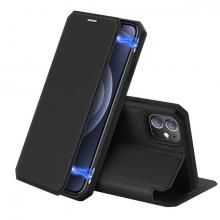 DUX DUCİS iPhone 12 Mini Kılıf Mıkantıslı Kapaklı Flip Cover Kılıf Skin X Series Flip Case
