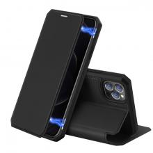 DUX DUCİS iPhone 12 Pro Max Kılıf Mıkantıslı Kapaklı Flip Cover Kılıf Skin X Series Flip Case