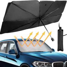 ALLY Araba Güneş Gölge Koruyucu Şemsiye Oto Ön Cam Güneşlik(145cm*79cm)