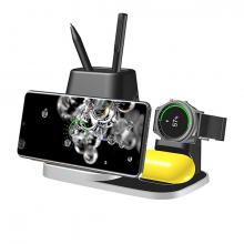 ALLY 4İN1 Kablosuz Şarj Cihazı Galaxy Watch-Buds Kulaklık S20,S21 İP11-12 Wireless Şarj Kalemlik