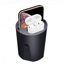 ALLY X9A Cup Araç İçin İPhone 11-12 Kablosuz Şarj Cihazı Airpods Şarj 2 Usb