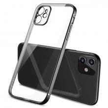 ALLY İPhone 12 6.1 Metal Görünümlü Darbeye Dayanıklı Silikon Kılıf