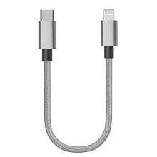 Ally USB-Type C iPhone 20W PD Hızlı Şarj Kablosu 20CM Kısa Kopmaz Halat Kablo